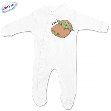 Бебешко гащеризонче Бебе Йода бяло