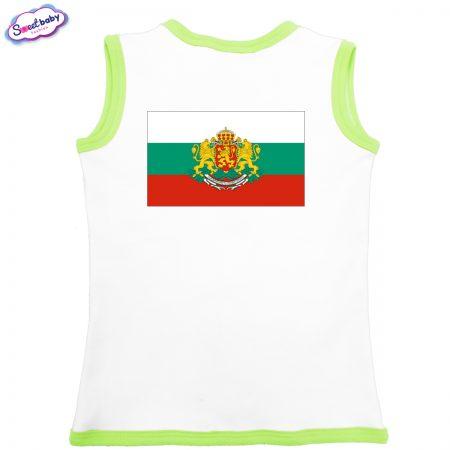 Бебешко елече Българско знаме бяло зелено