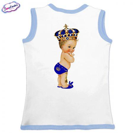 Бебешко елече Babyking бяло синьо