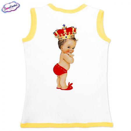 Бебешко елече Babyqueen бяло жълто