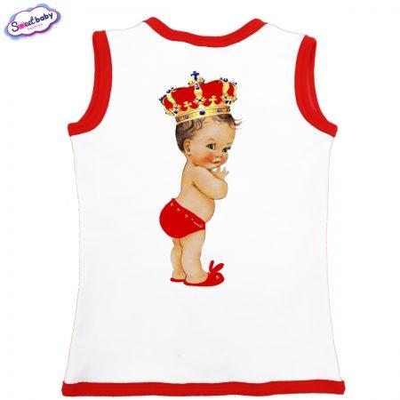 Бебешко елече Babyqueen бяло червено