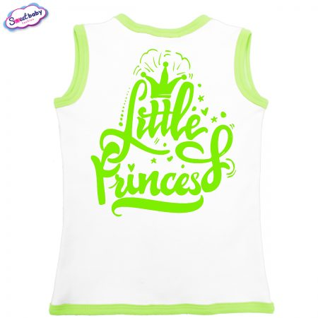 Бебешко елече Little Princess бяло зелено