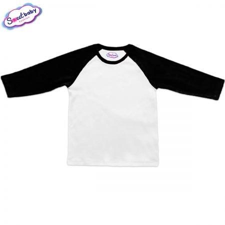 Блузка дълъг ръкав черно и бяло