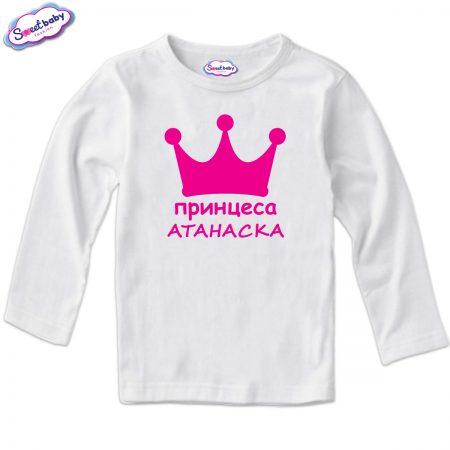 Детска блуза Принцеса Атанаска в бяло