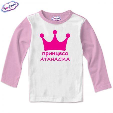 Детска блуза Принцеса Атанаска розово бяло