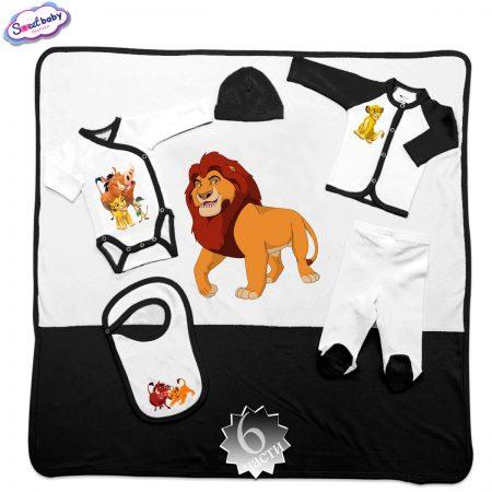 Комплект за изписване Цар Лъв бяло черно 6