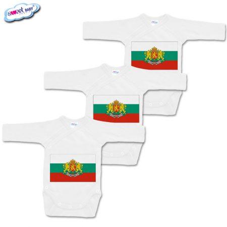 Бебешки бодита Българско знаме сет от 3
