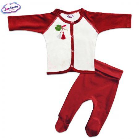 Бебешки сет Късмет червено и бяло