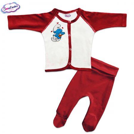 Бебешки сет Смърфче пита червено бяло