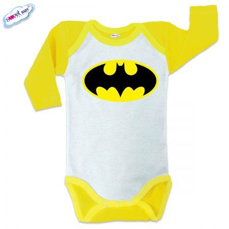 Бебешко боди US Батман жълто кант