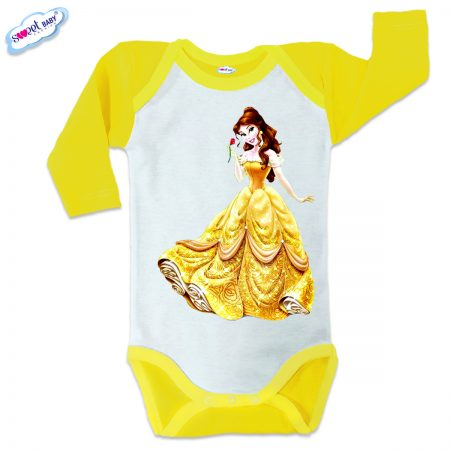 Бебешко боди US Бел жълто кант