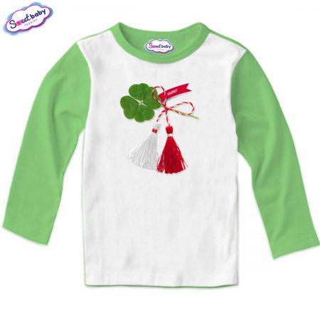 Детска блуза Късмет зелено и бяло