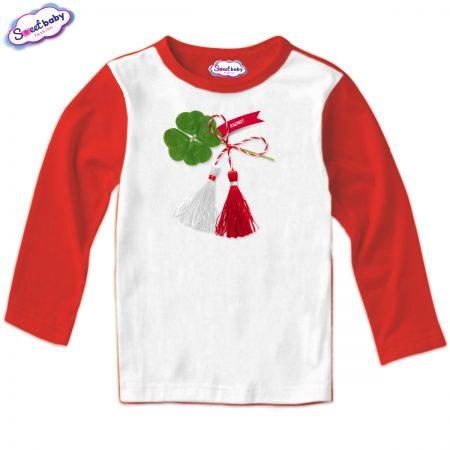 Детска блуза Късмет червено и бяло